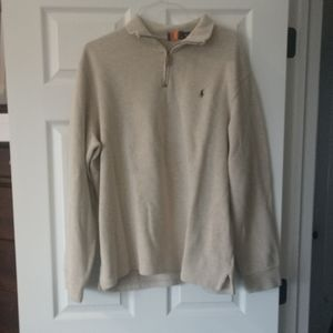 Polo quarter zip up sweater